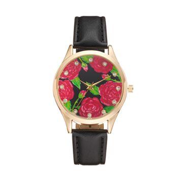 Women's Crystal Flower Watch