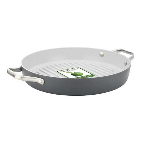 GreenPan Padova 11-in. Hard-Anodized Nonstick Ceramic Round Grill Pan