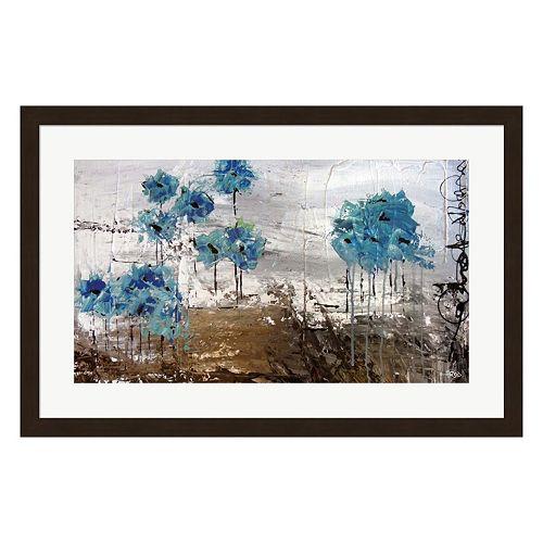 Metaverse Art Floralies du Blues Framed Wall Art