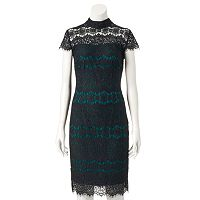 Women's Chaya Contrasting Lace Sheath Dress