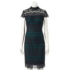 Women's Chaya Contrasting Lace Sheath Dress