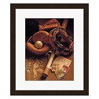 Metaverse Art Baseball Framed Wall Art