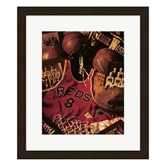Metaverse Art Basketball Framed Wall Art