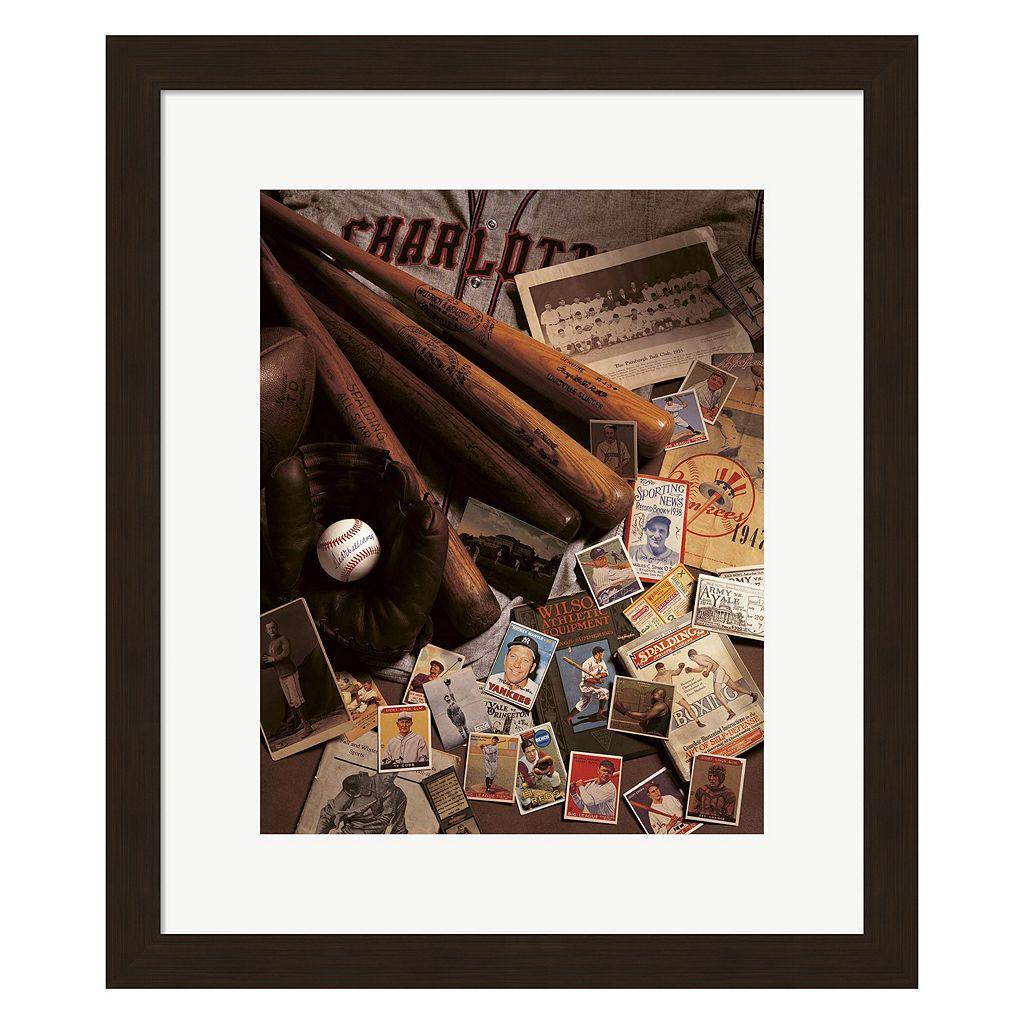 Metaverse Art Baseball II Framed Wall Art