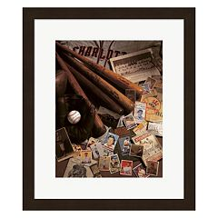 Metaverse Art Baseball II Framed Wall Art