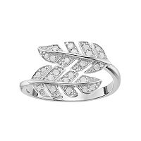Sterling Silver 1/4 Carat T.W. Diamond Leaf Ring