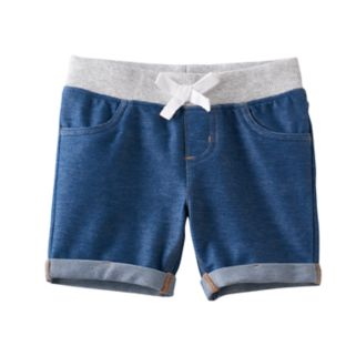 Toddler Girl Jumping Beans® Ribbed Waist Faux Denim Jegging Shorts
