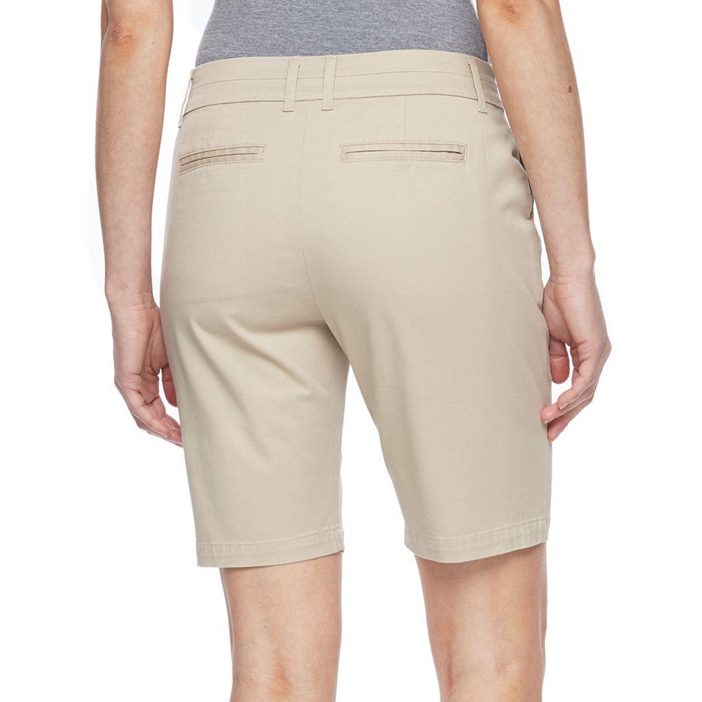 Petite Croft & Barrow® Twill Bermuda Shorts