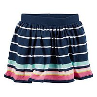 Toddler Girl Carter's Neon Striped Skort