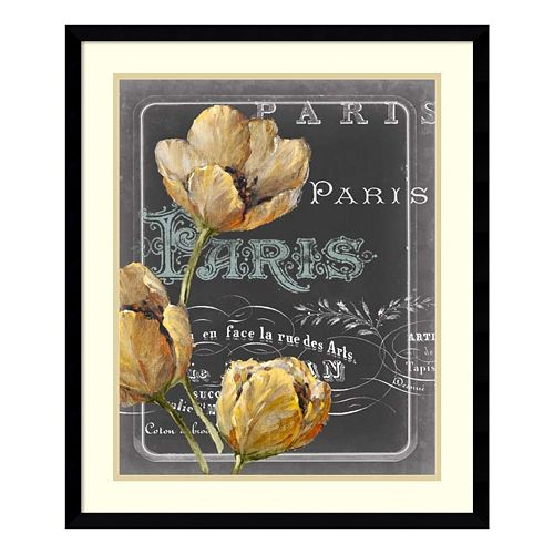 Chalkboard Paris II Framed Wall Art
