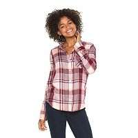 Juniors' SO® Twill Button-Down Shirt