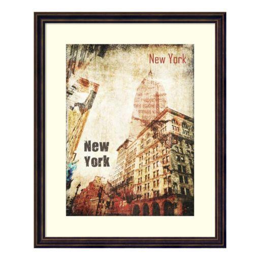 New York Grunge I Framed Wall Art