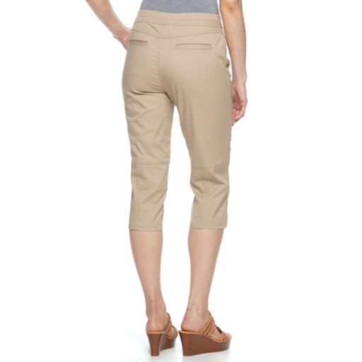 Petite Croft & Barrow® Twill Utility Capris