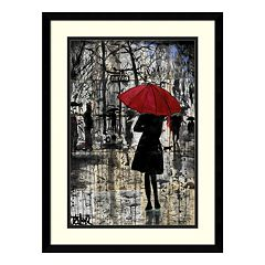 Metro Red Umbrella Framed Wall Art