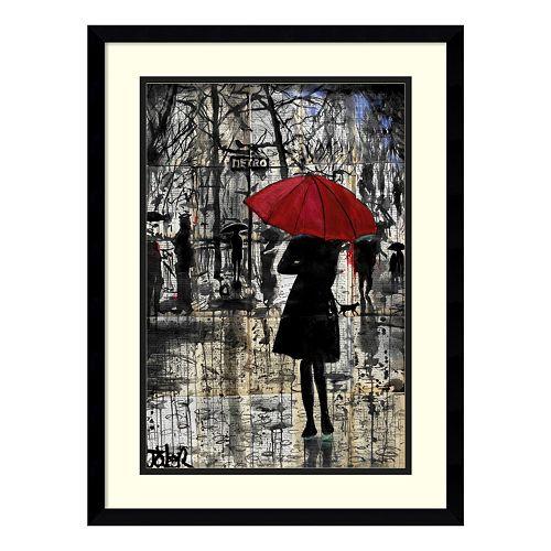 Metro Red Umbrella Framed Wall Art