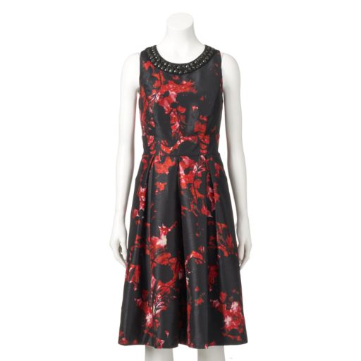 Women's Chaya Embellished Floral Fit & Flare Dress