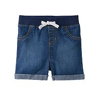 Baby Girl Jumping Beans® Cuffed Denim Shorts