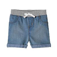 Baby Girl Jumping Beans® Cuffed Denim Shorts