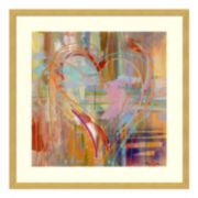 Abstract Heart Framed Wall Art
