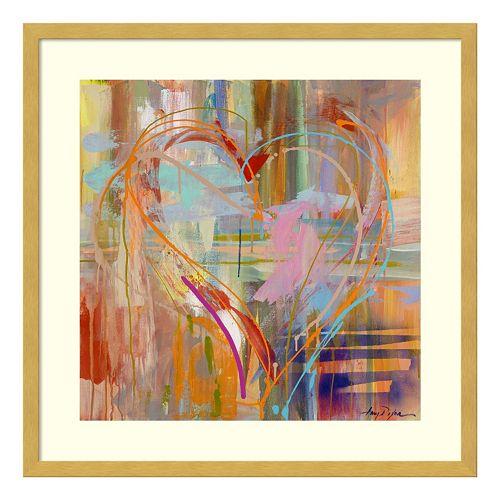 Abstract Heart Framed Wall Art