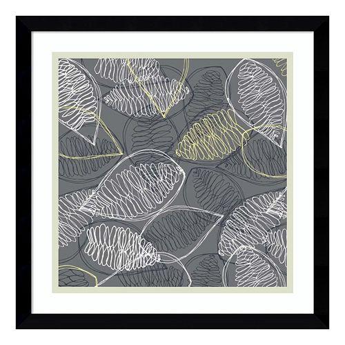 Winter's Grey II: Leaves Framed Wall Art