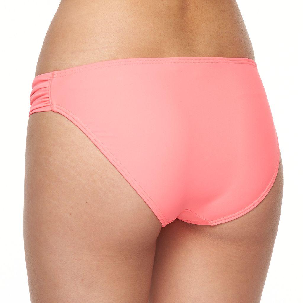 Mix and Match Shirred Hipster Bikini Bottoms