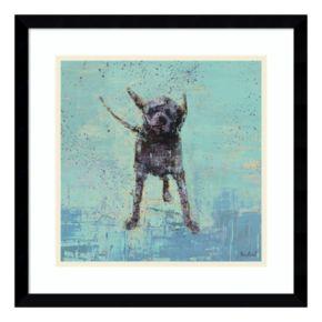 Shake No. 3 Dog Framed Wall Art