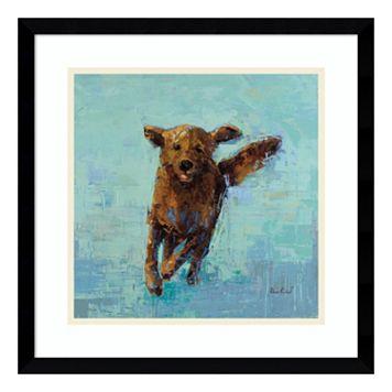 Golden Dog No. 5 Framed Wall Art