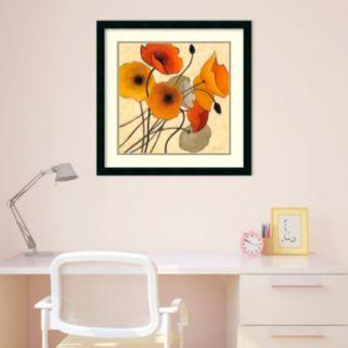 Pumpkin Poppies II Framed Wall Art