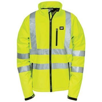 Men's Caterpillar Hi-Visibility Softshell Jacket