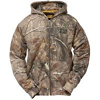 Men's Caterpillar Camo Full-Zip Hooded Sweatshirt