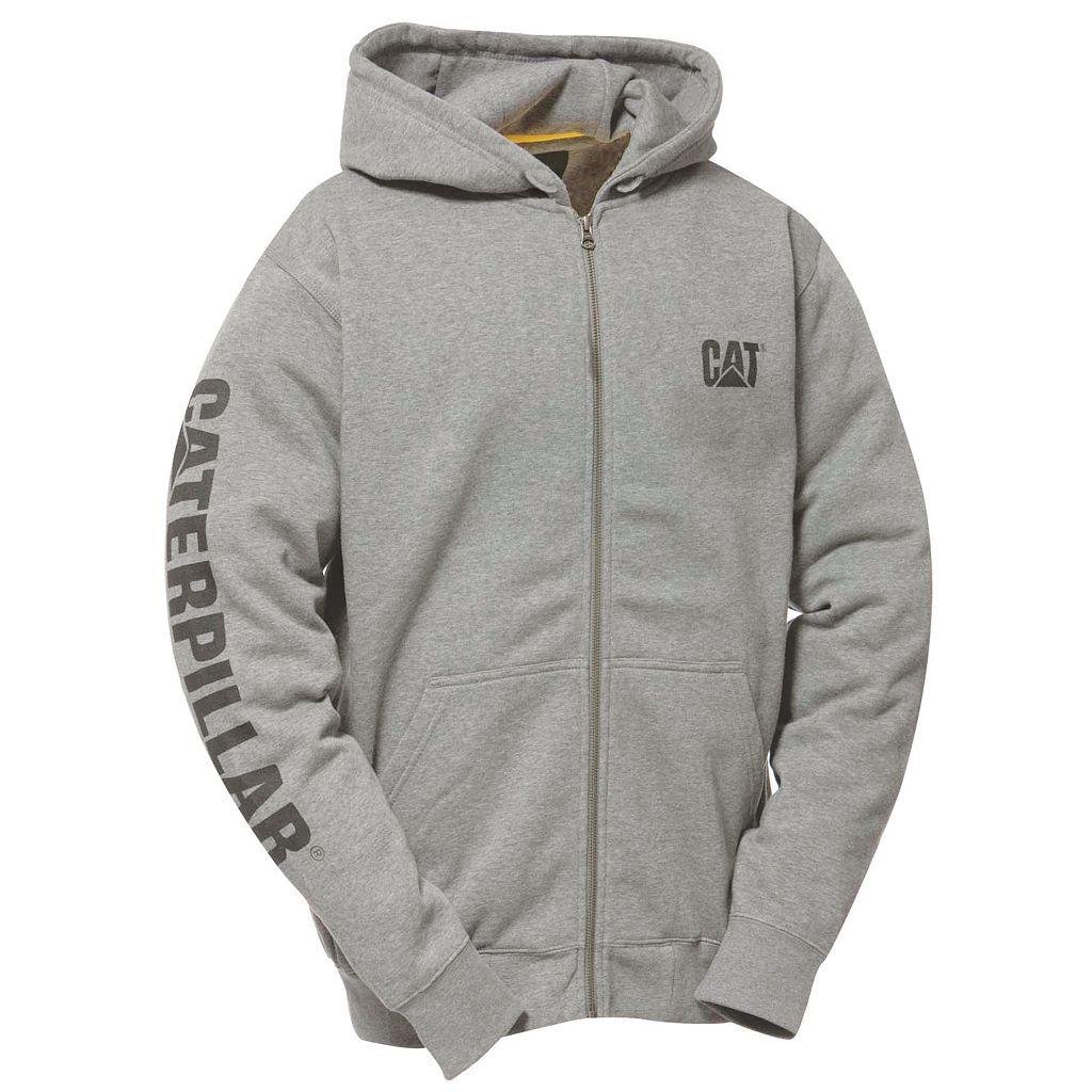 Men's Caterpillar Full-Zip Logo Hooded Sweatshirt