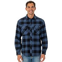 Big & Tall Dickies Brawny Plaid Flannel Button-Down Shirt