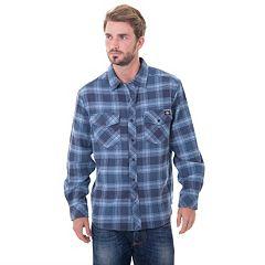 Big & Tall Dickies Brawny Plaid Flannel Button-Down Shirt