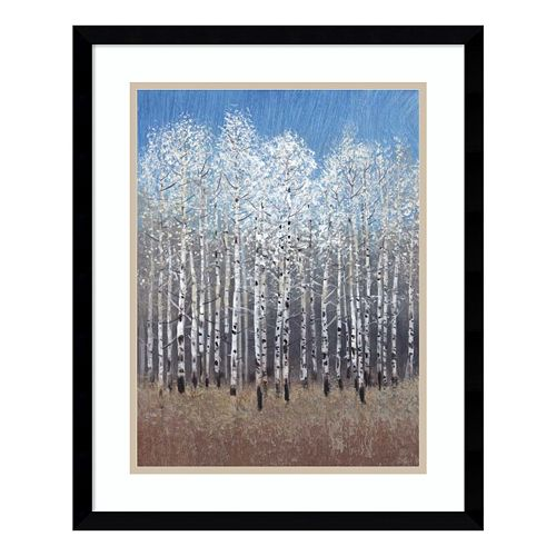 Cobalt Birches I Framed Wall Art