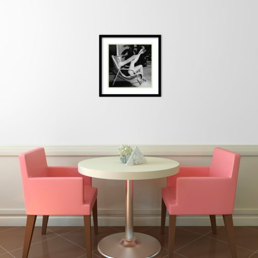 Marilyn Monroe Poolside Framed Wall Art