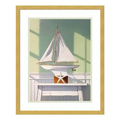 Stargazing With A Boat Framed Wall Art