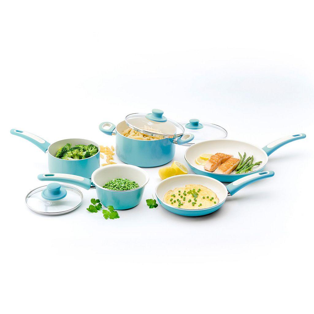 GreenPan Focus 10-pc. Hard-Anodized Nonstick Ceramic Cookware Set