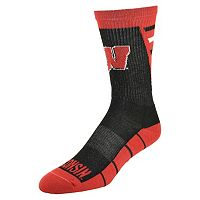 Men's Mojo Wisconsin Badgers Energize Crew Socks