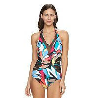 Women's Apt. 9® Mesh Halter One-Piece Swimsuit