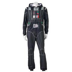 Men's Star Wars Darth Vader Pillow Pack Microfleece Union Suit