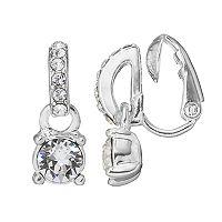 Dana Buchman Half Circle Clip On Drop Earrings