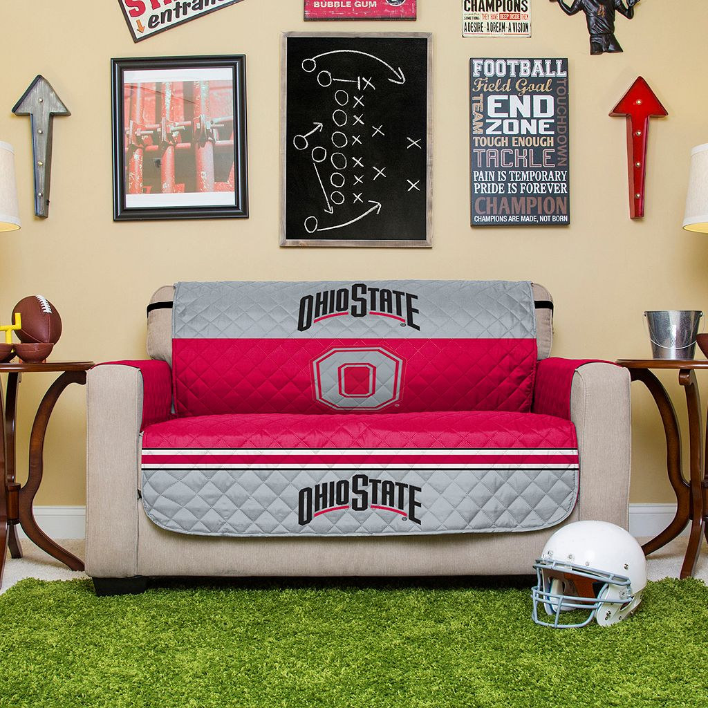 Ohio State Buckeyes Quilted Loveseat Cover