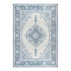 Ruggable® Washable Parisa Framed Floral 2 pc Indoor Outdoor Rug System