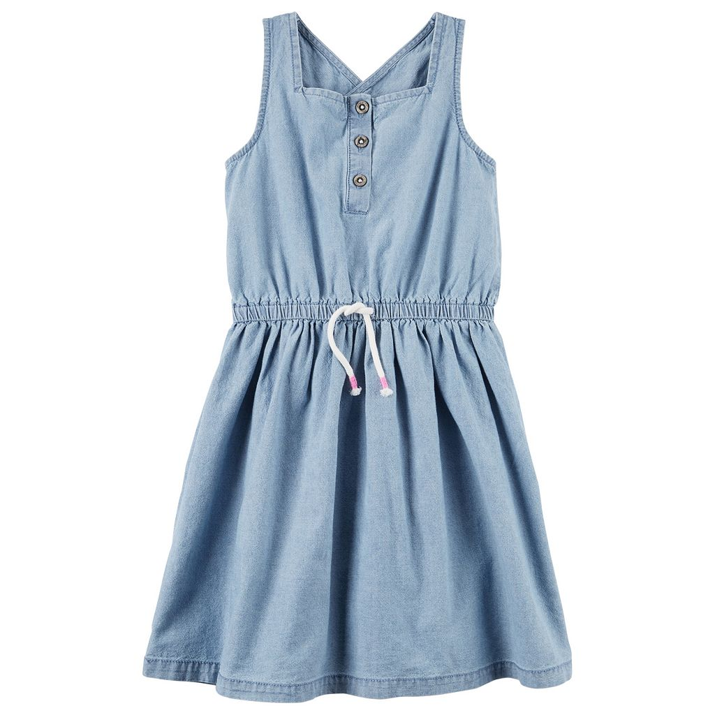 Toddler Girl Carter's Henley Chambray Dress