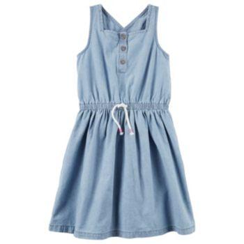 Toddler Girl Carter's Henley Chambray Dress