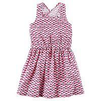 Toddler Girl Carter's Elephant Geometric Print Dress