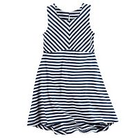 Toddler Girl Carter's Striped High-Low Hem Dress