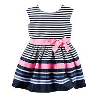 Toddler Girl Carter's Striped Sateen Dress