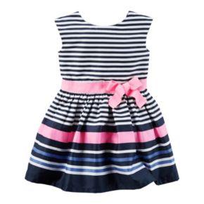 Toddler Girl Carter's Striped Sateen Dress